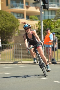 Homeward stretch to Mooloolaba Esplanade and back to transition
